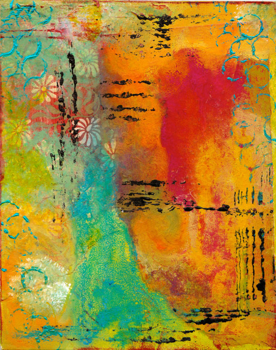 Mixed media abstract 5x7 blank greeting card with envelope mixed mixed media abstract 5x7 blank greeting card with envelope mixed media art stationery all occasion card wholesale cards m4hsunfo