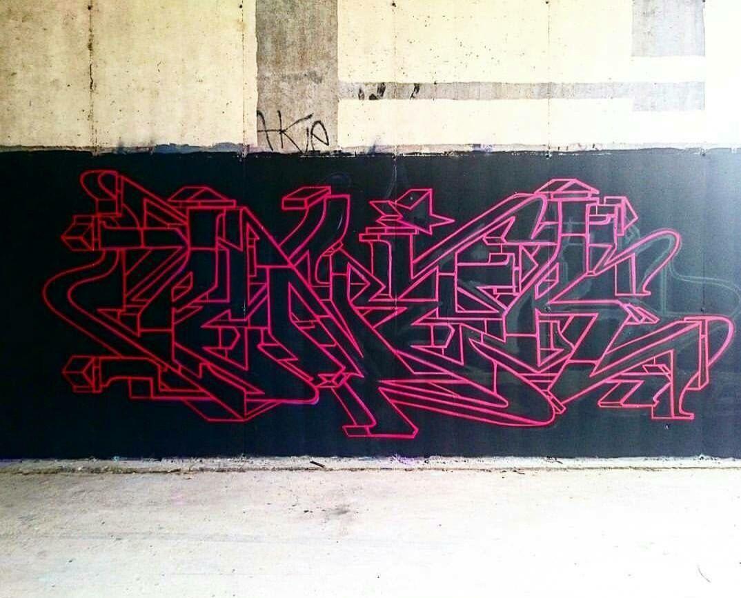Pener Via Bombtheworld CB Graffiti piece, Graffiti lettering