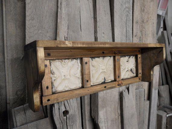 Rustic wall shelf antique style wall shelf by LynxCreekDesigns, $75.00