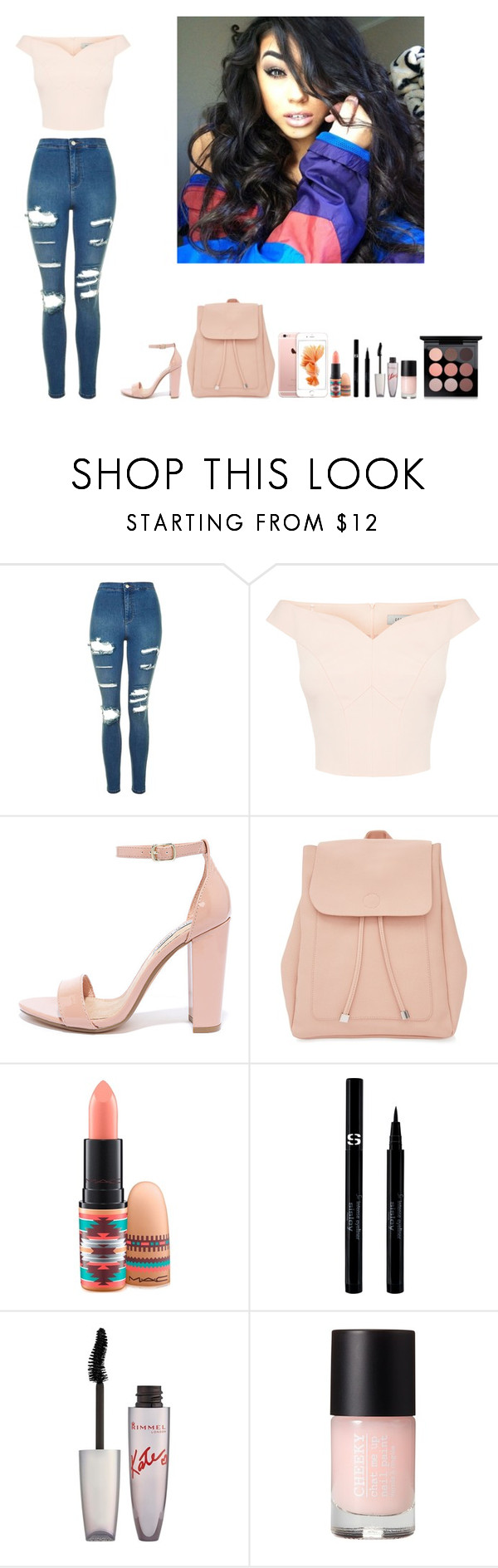 """-Krissy"" by krissyk-15 on Polyvore featuring Topshop, Steve Madden, New Look, MAC Cosmetics, Sisley and Rimmel"