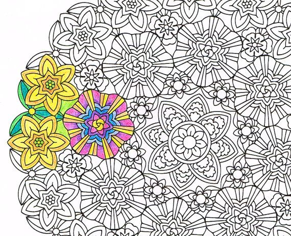 mandala coloring page inner light printable coloring page for mindfulness art therapy and fun a great get well soon gift