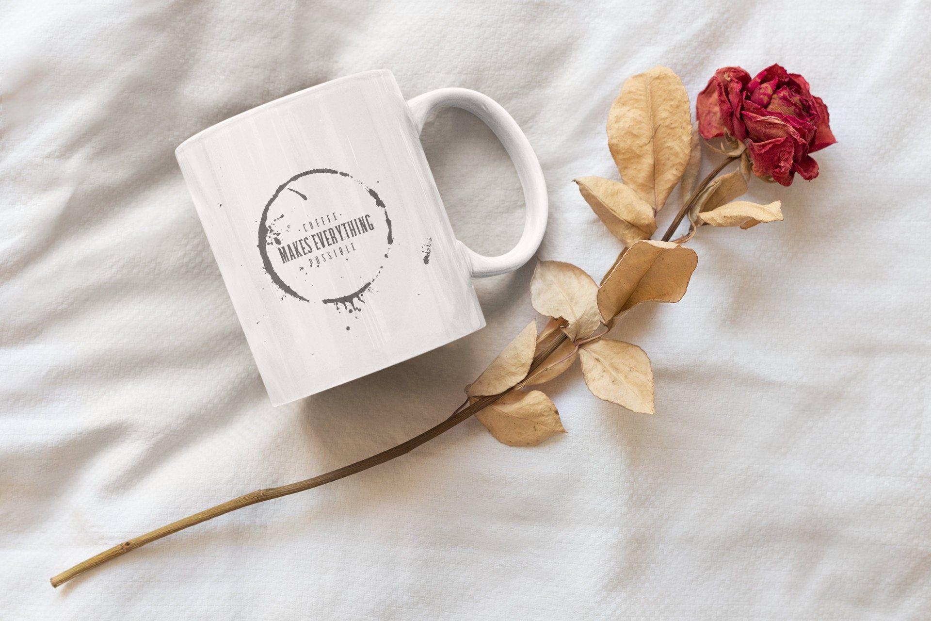 PrettyLittleCoffeeMug Black, Coffee Mug with Print, Tea Cup, Coffee Cup, Black Quote Coffee Mug