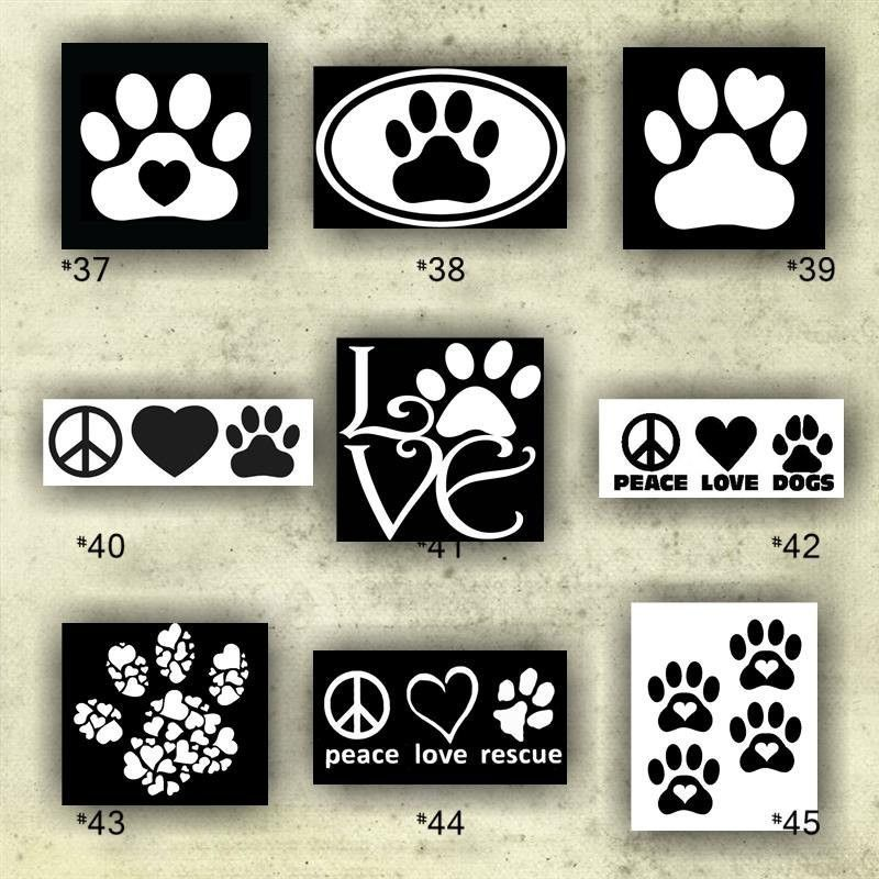 PAW PRINT Vinyl Decals  Custom Vinyl Stickers - Window stickers for cars