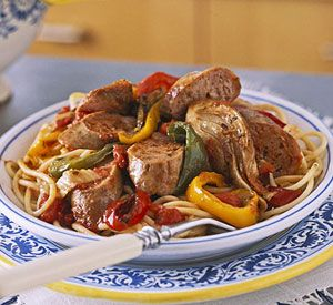 Recipe for sausage pasta and peppers