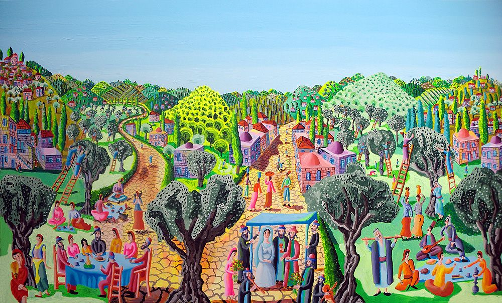 Naive Painter Landscape Paintings Large Colorful Painting Naife Artworks Primitive Art Gallery Folk Painters Artist R Naive Art Naive Painting Artwork Painting