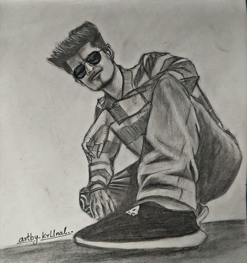Boy Drawing Pencil Sketch Pencil Sketch Boy Drawing Commissioned Artwork