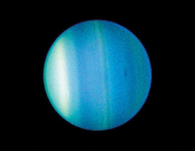 This 2006 Image Taken By The Hubble Space Telescope Shows Bands And A New Dark Spot In Uranus Atmosphere Uranus Nasa Solar System Hubble Space Telescope