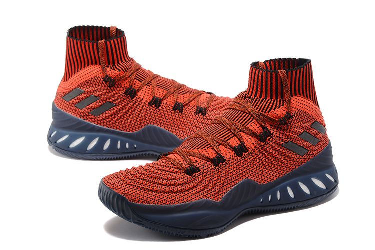 baa2341880a3 2017 2018 Basketball Shoes adidas Crazy Explosive 2017 Primeknit Red Black-Deep  Blue