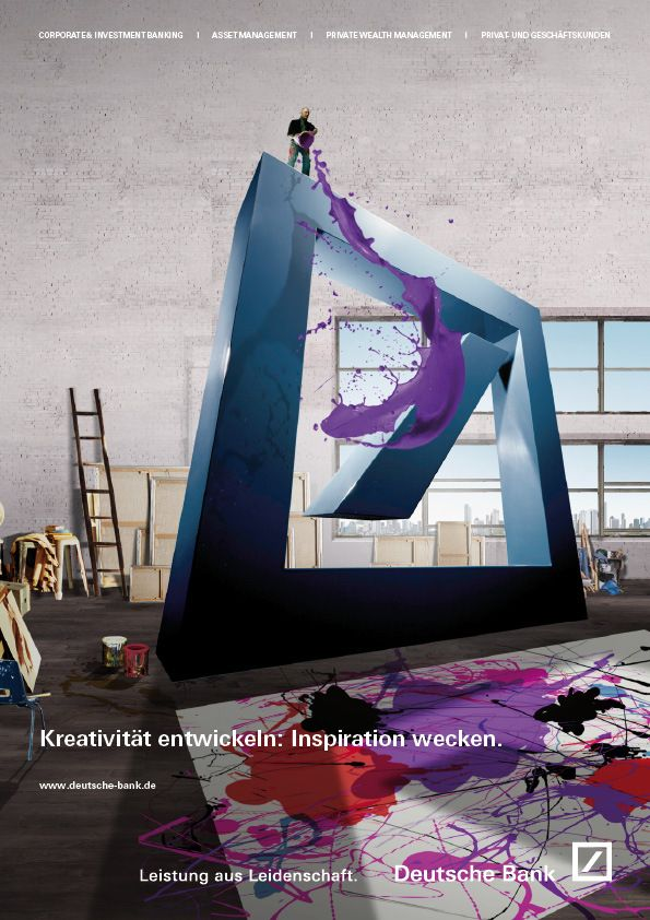 Deutsche Bank By Katrin Fillinger Via Behance Bank Branding Creative Advertising Advertising