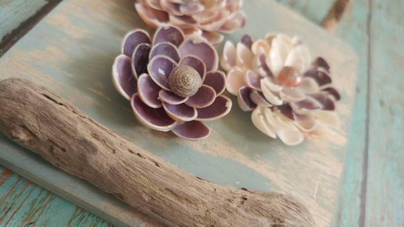 Seashell Flowers Birthday Gifts For Mom Anniversary Gift Etsy In 2020 Seashell Wall Decor Valentines Flowers Sea Shells