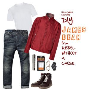 #DIY James Dean from u201cRebel Without A Causeu201d Halloween Costume for College Students  sc 1 st  Pinterest & DIY James Dean from u201cRebel Without A Causeu201d Halloween Costume for ...