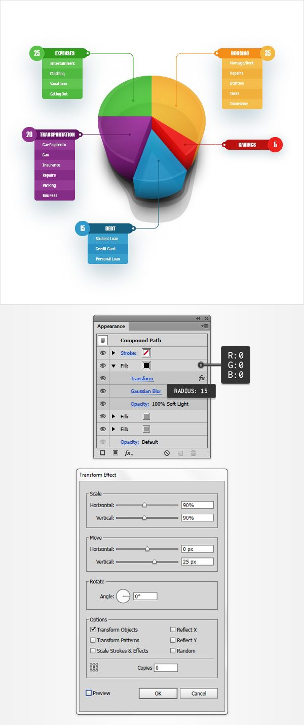 How to create a 3d pie chart design in adobe illustrator adobe how to create a 3d pie chart design in adobe illustrator nvjuhfo Gallery