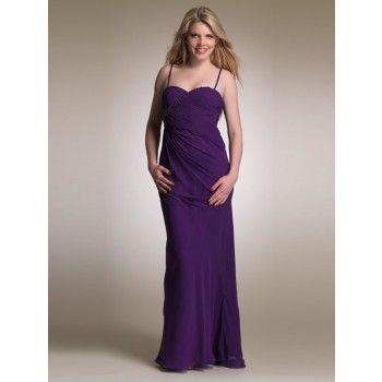 Elegante Abendkleider Chiffon A-Linie lang Lila mit ...