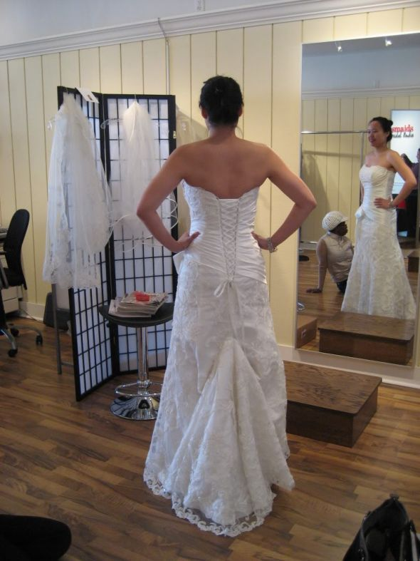 Show Off Your Bustle And Back Of Your Gown Wedding Bridal Bustle