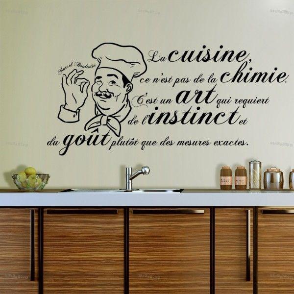 stickers la cuisine est un 600 600 citations pinterest citation cuisine. Black Bedroom Furniture Sets. Home Design Ideas