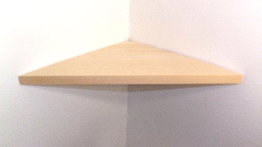 24 Wide Wood Floating Corner Wall Shelf Unfinished Diy Project Handmade In The Usa Wood Corner Shelves Shelves Corner Wall Shelves