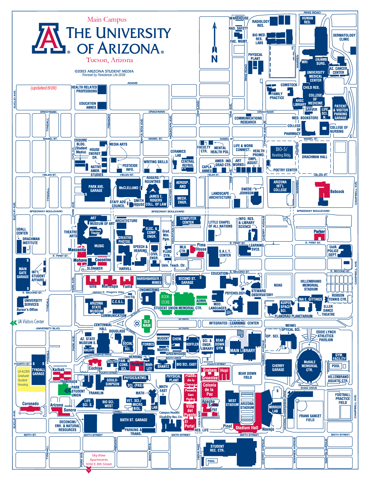 university of arizona map   Google Search | College | Pinterest