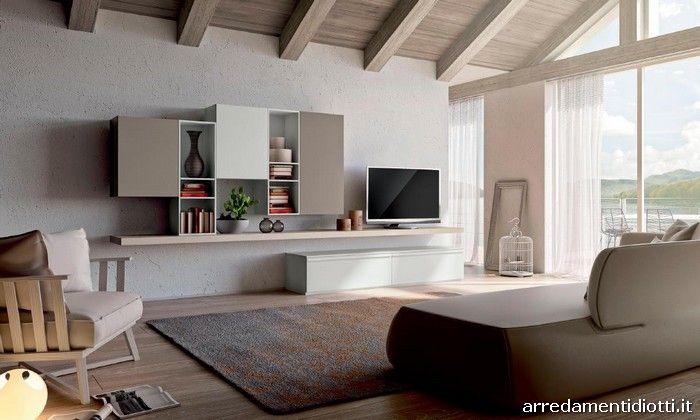 Composizioni soggiorno con moduli posizionabili a piacere in armonia ...
