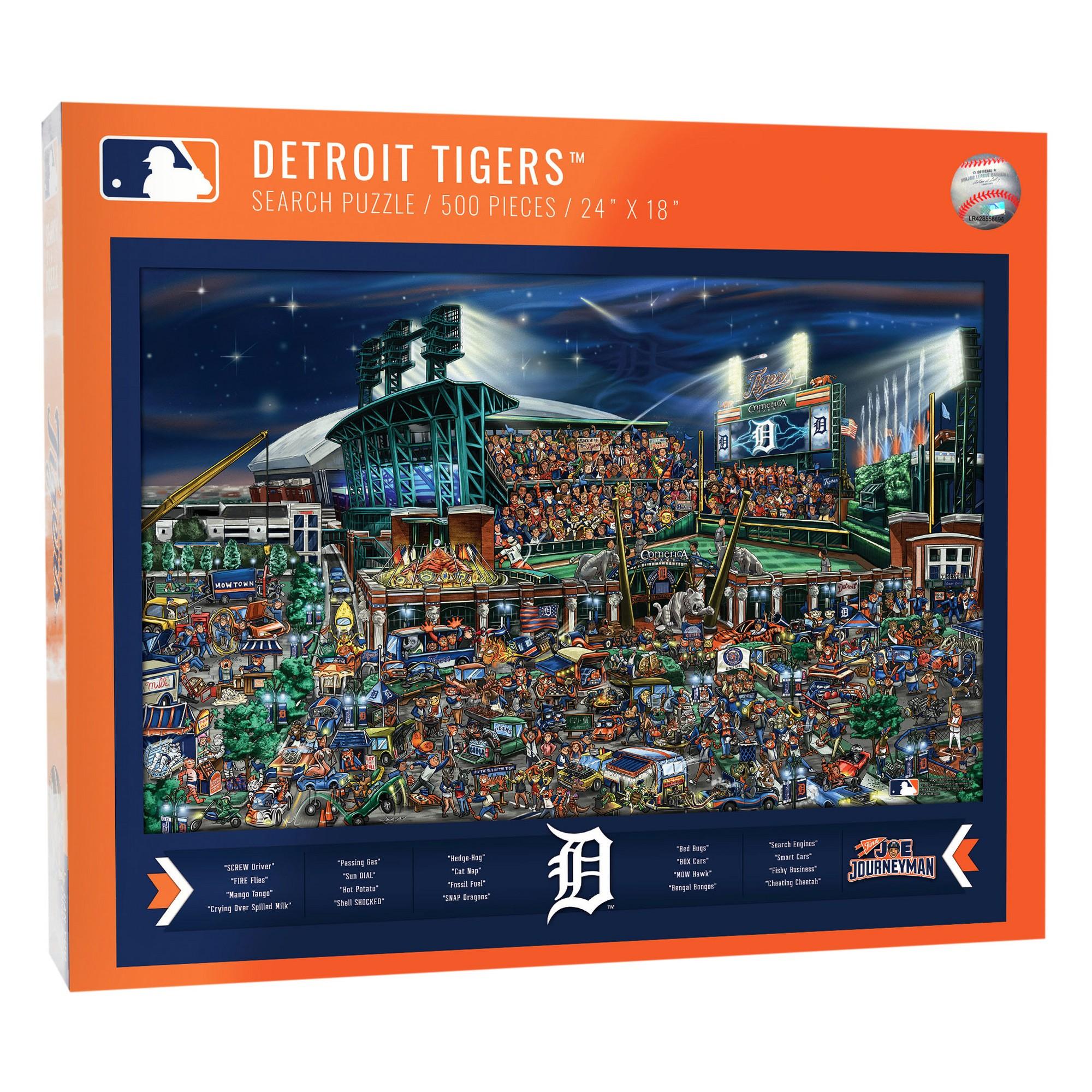 Mlb Detroit Tigers 500pc Find Joe Journeyman Puzzle Mlb Detroit