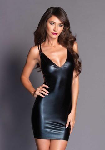 1359a78cccfa LALO86635 Sexy Deep-V Strappy Leg Avenue Mini Dress - Miss Hollywood - 1