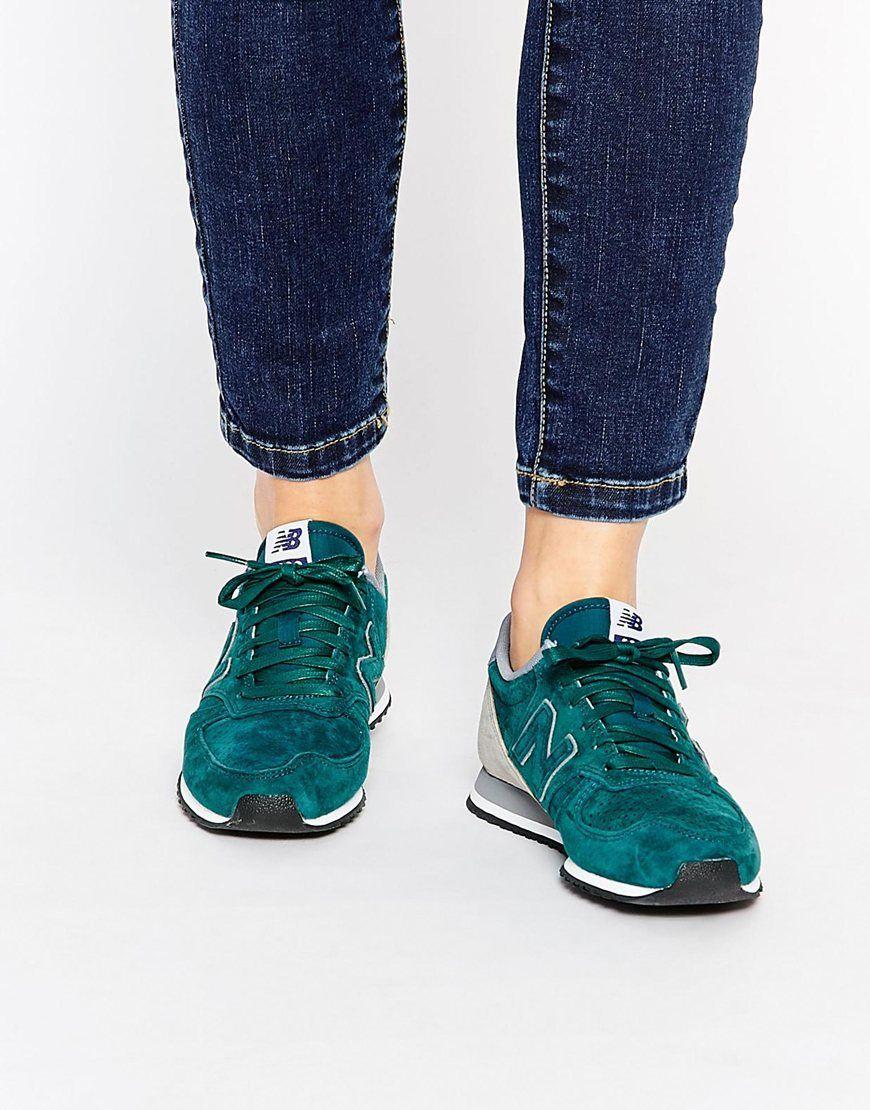 new balance 420 green trainers