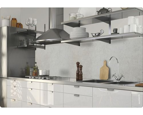 Hornbach Küchenarbeitsplatte ~ Küchenrückwand klebefolie myspotti splash cement wall 280x60 cm
