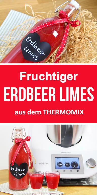 Fruchtiger Erdbeer Limes. Schnell & einfach mit diesem Thermomix Rezept.