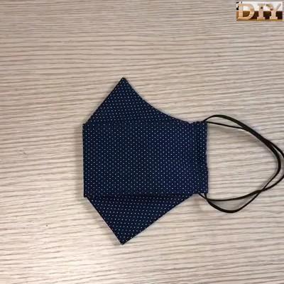 Máscara de tecido 3D com molde e medidas em todos