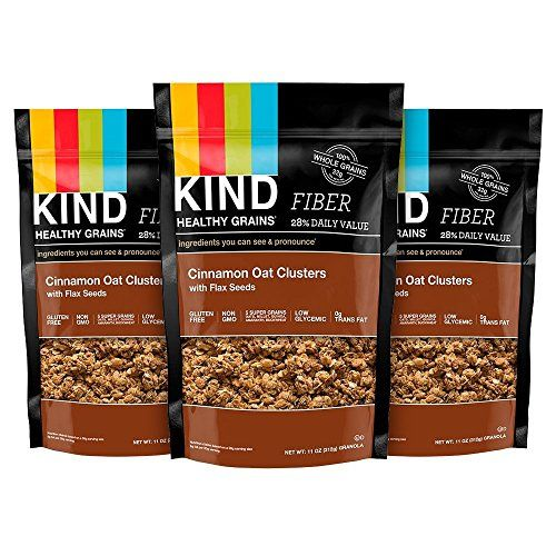 KIND Healthy Grains Clusters Cinnamon Oat with Flax Seeds 11Ounce Bags  Pack of 3 * More info could be found at the image url.Note:It is affiliate link to Amazon.