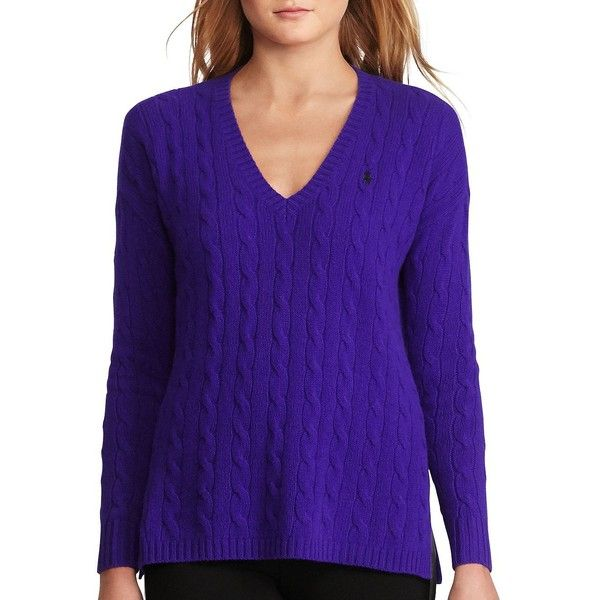 Polo Ralph Lauren Cable Wool-Cashmere Sweater ($125) ❤ liked on ...