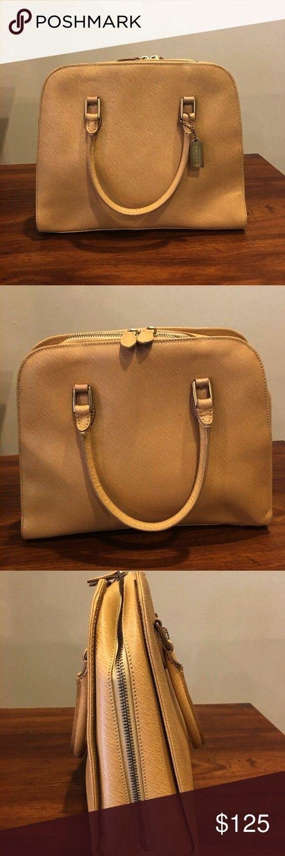 Handbag Classic Make me an offer Elegant Timeless Coach Handbag Very G  Coach Tan Handbag Classic Make me an offer Elegant Timeless Coach Handbag Very G  Coach Tan Handba...