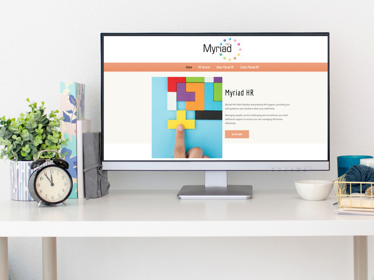 New website design for Myriad HR
