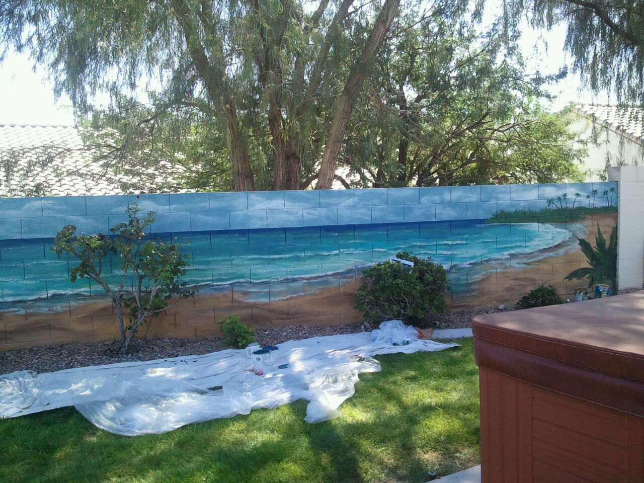 Ocean Outside Mural For A Brick Wall Beautiful Mirage In A Desert