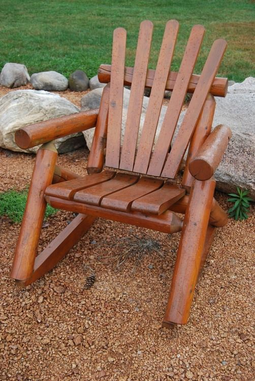Cedar Outdoor Rocker Unembled Unfinished Available At Cabin Creations Phillips Wi