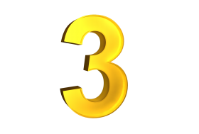 Three 3 3d Numbers Gold Png Image With Transparent Background Png Free Png Images Gold Clipart Transparent Background Transparent