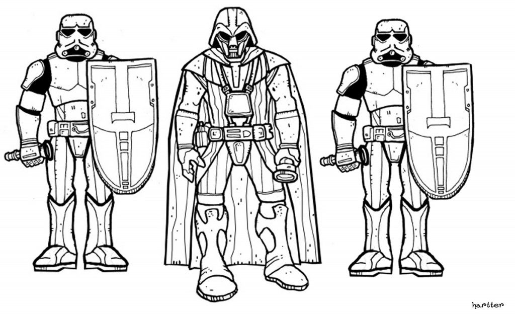 Star Wars Coloring Pages Boba Fett STAR WARS Pinterest Free