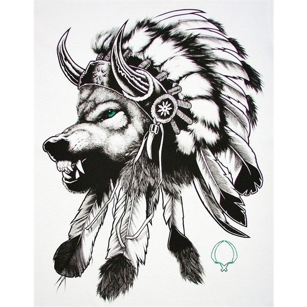Justanother Co Uk Rook Clothing Rook Wolf Headdress T Shirt Tee In White Headdress Tattoo Indian Headdress Tattoo Indian Tattoo