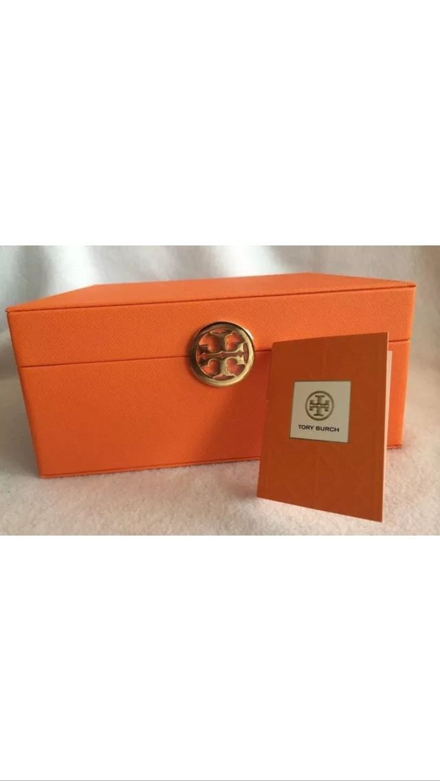 Tory Burch Orange Signature Fragrance Makeup Cosmetic Storage
