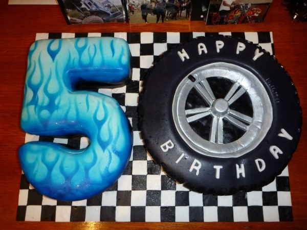 Car Theme Cake 50th Birthday Party Ideas For Men