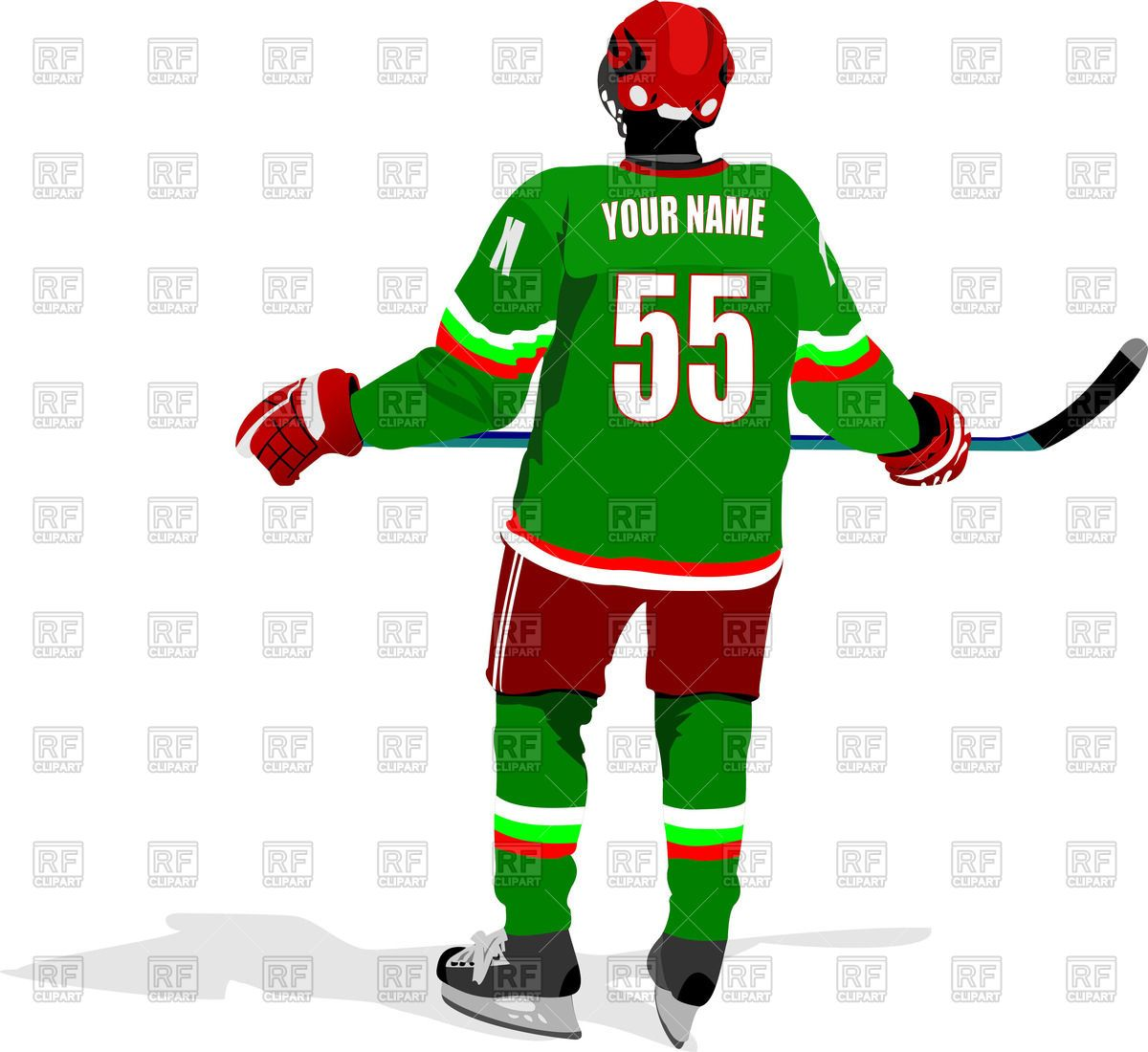 Ice Hockey Player 2 Clipart Clip Art Picture Hockey Players Ice Hockey Players Hockey