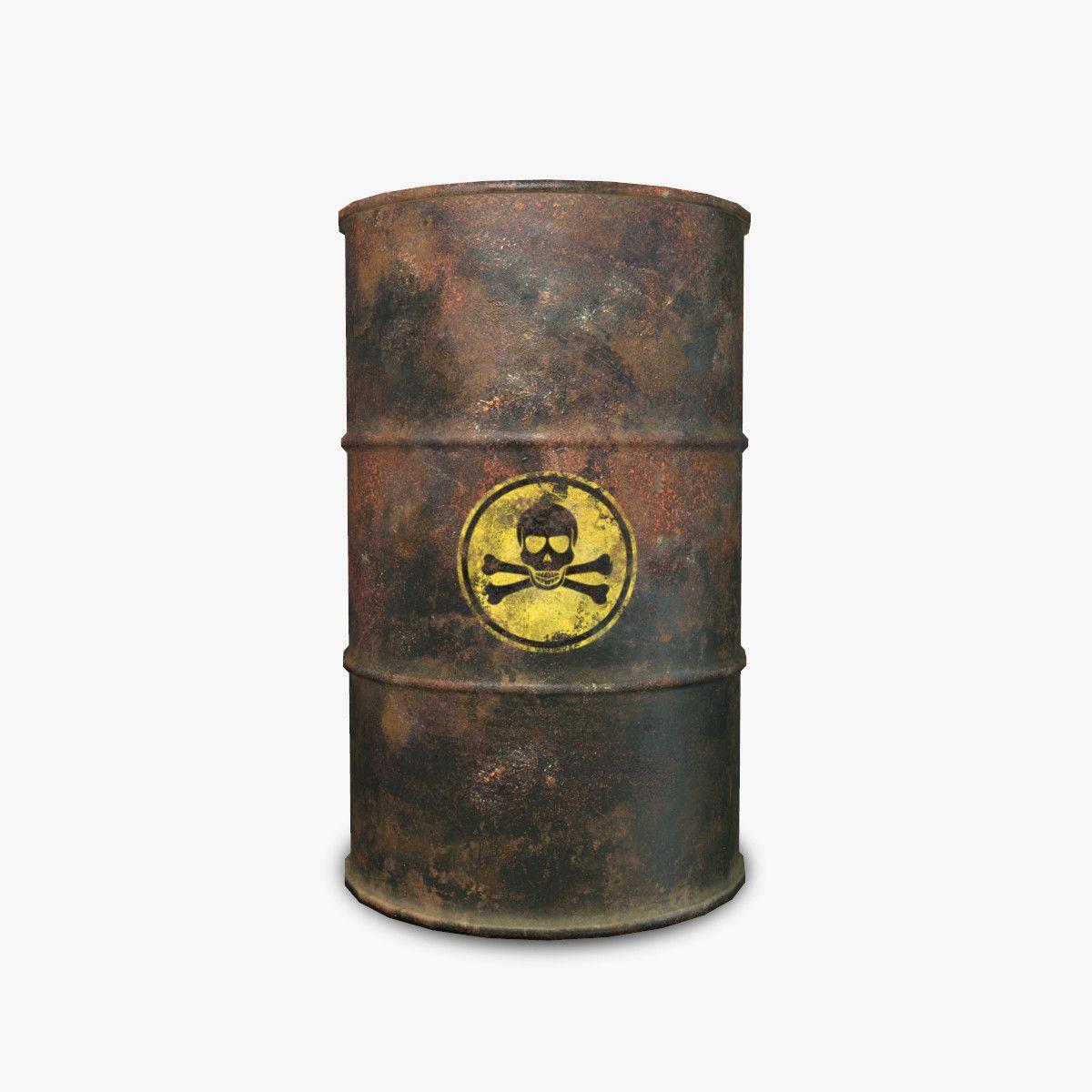3d barrel toxic rusty