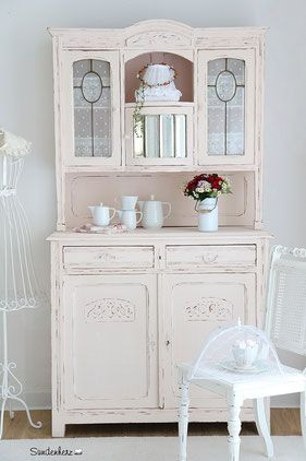 k chenbuffet k chenschrank in pastell rosa shabby chic projekter jeg vil pr ve pinterest. Black Bedroom Furniture Sets. Home Design Ideas
