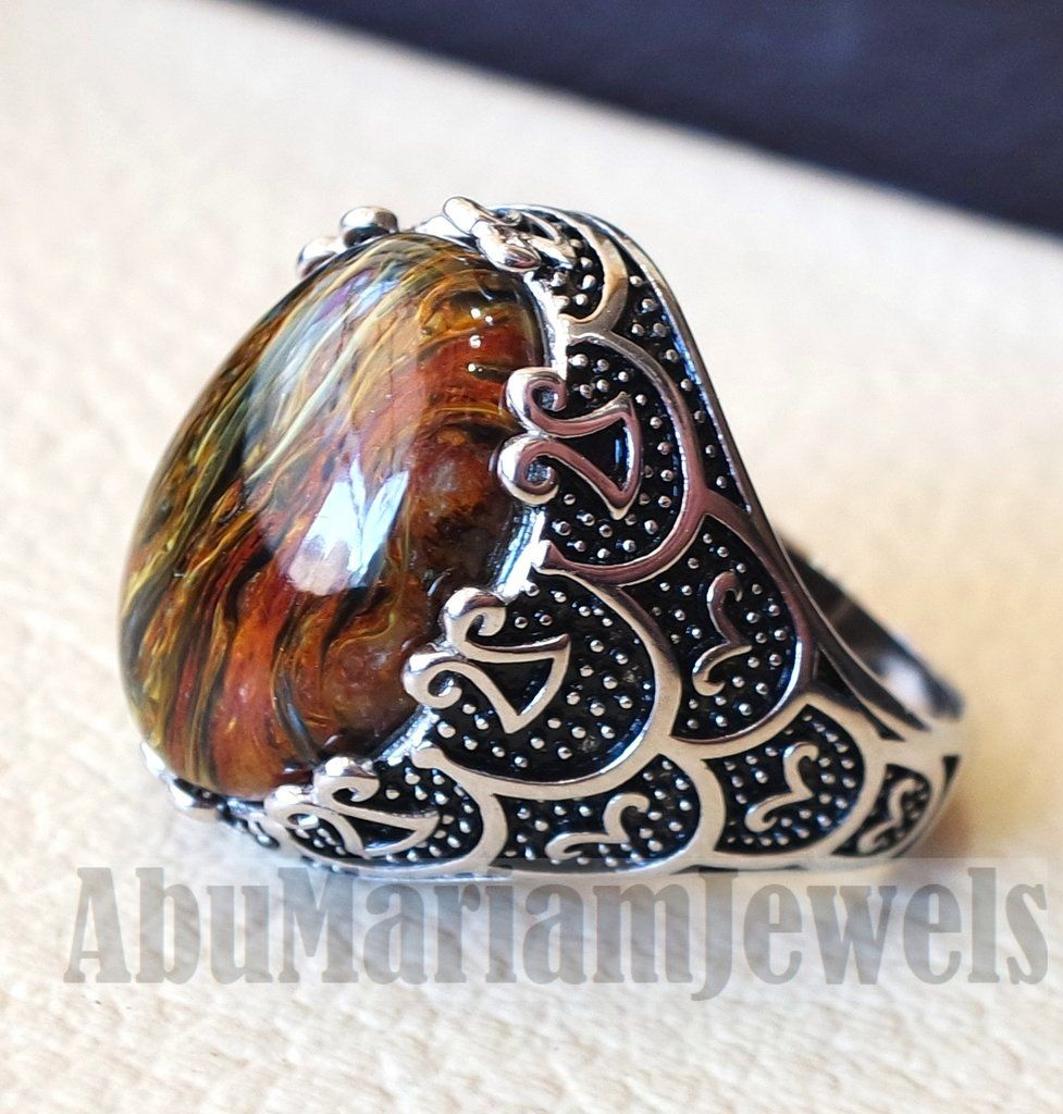 jewelry by brown rings sq petiersite ring product sterling silver pietersite creations earthy