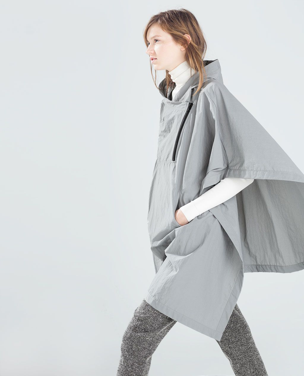 image 1 of waterproof poncho from zara what to buy pinterest cycle chic zara and all. Black Bedroom Furniture Sets. Home Design Ideas