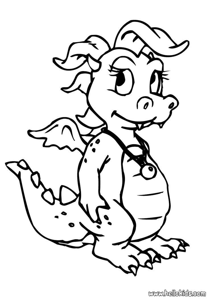 Dragon Coloring Pages Little Dragon Dragon Coloring Page Baby Dragons Drawing Animal Coloring Pages