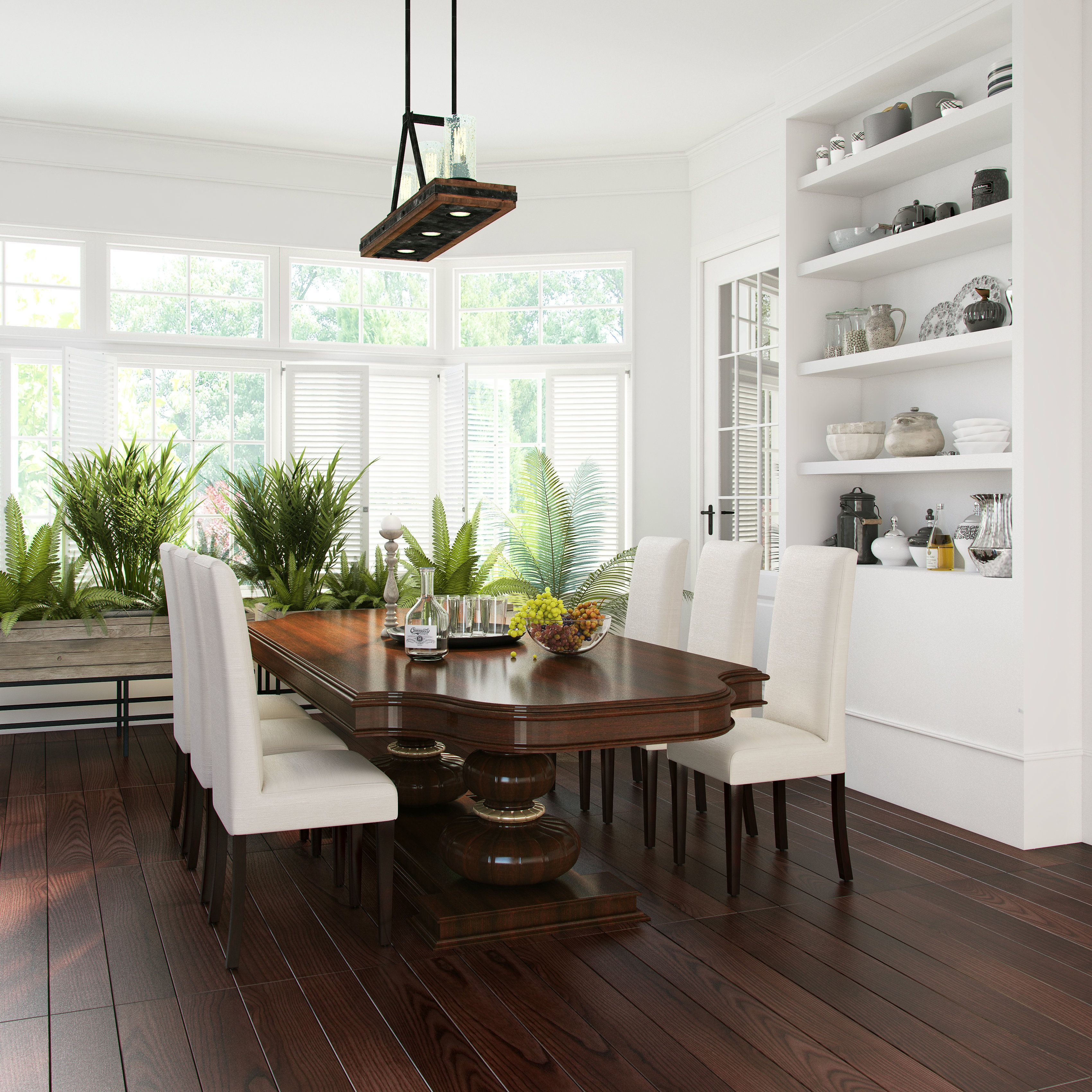 Captivating greens dining room images best inspiration home design plenty of greens and white define this refreshing dining room dzzzfo
