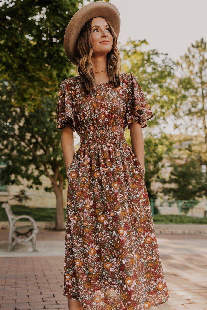 Isadora Floral Midi