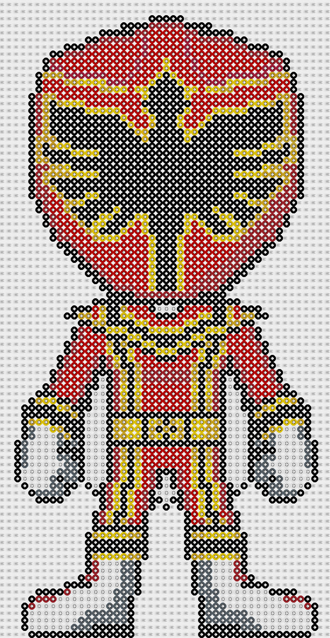 Power Ranger Perler Bead Pattern By Sebastien Herpin Super Heros