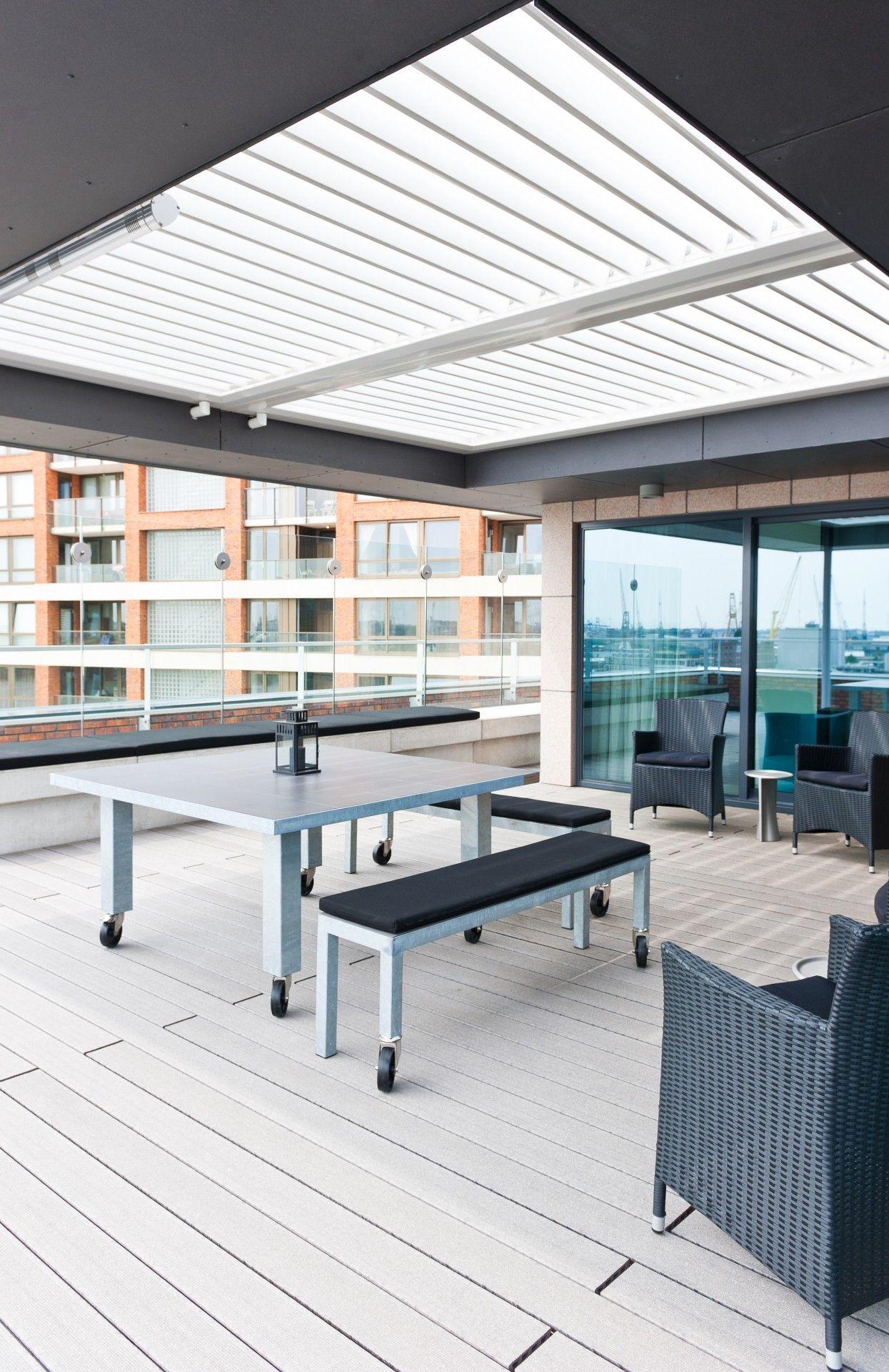 Livium louvredaken reduceren het daglichtverlies in de woning van een veranda of overkapping Tevens functioneren