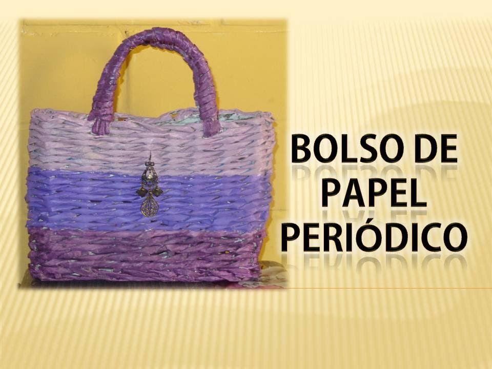 Good one bolso de papel periodico 2 proyectos que - Cestas de papel de periodico paso a paso ...